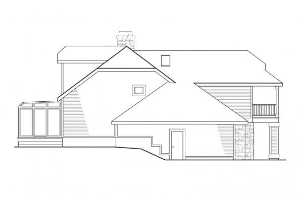 Cottage House Plan - Covington 30-131 - Left Elevation