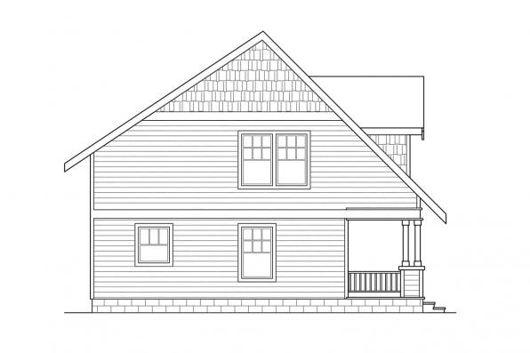 Cottage House Plan - Dickenson 30-081 - Left Elevation