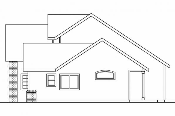 Cottage House Plan - Esterville 30-699 - Right Elevation