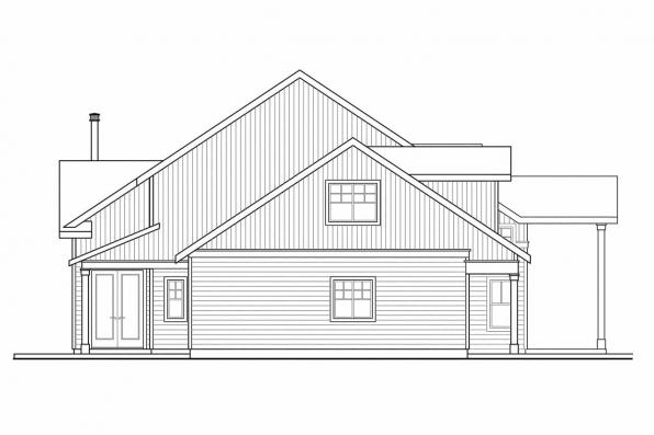 Cottage House Plan - Grand River 30-754 - Left Elevation