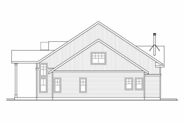 Cottage House Plan - Grand River 30-754 - Right Elevation