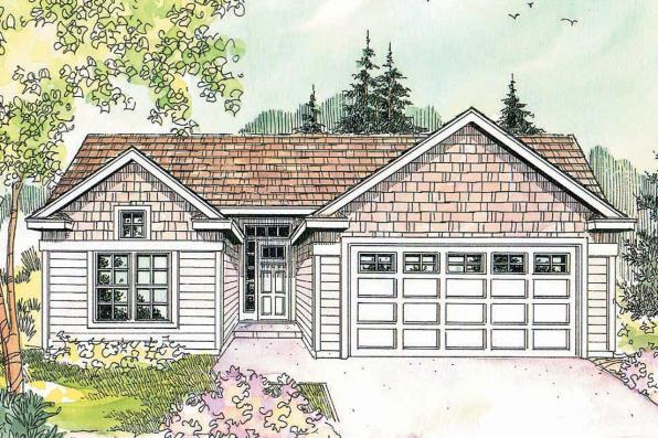 Cottage House Plan - Kayleigh 30-549 - Front Elevation
