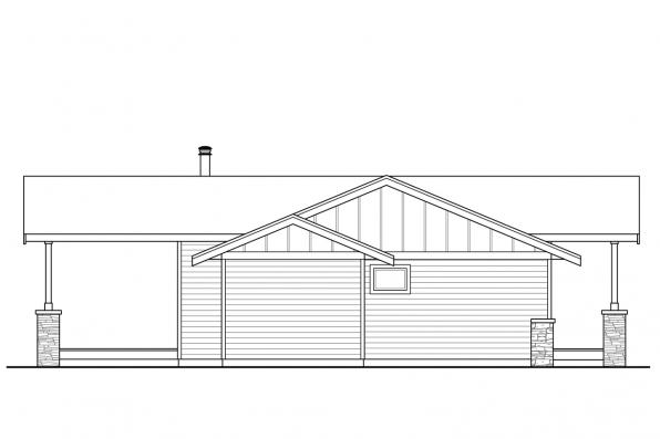 Cottage House Plan - Lakeville 30-998 - Left Elevation