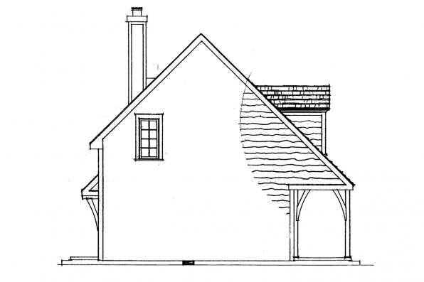 Cottage House Plan - Langford 42-014 - Left Elevation