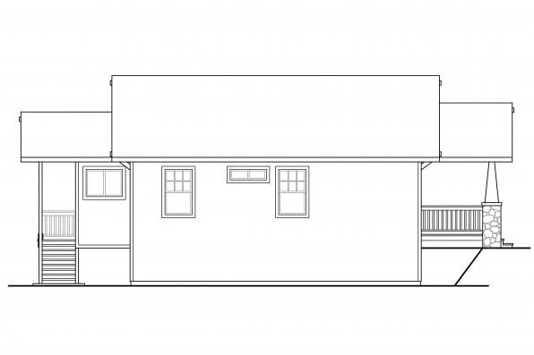 Cottage House Plan - Lone Rock 41-020 - Left Elevation