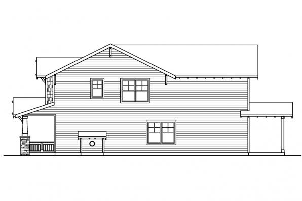 Cottage House Plan - Maplecreek 30-591 - Right Elevation