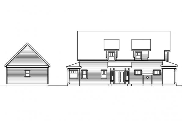 Cottage House Plan - Mayberry 30-619 - Left Elevation
