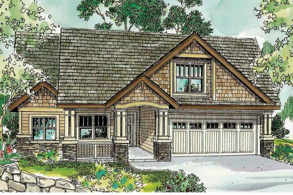 Cottage House Plan - Maywood 30-680 - Front Elevation