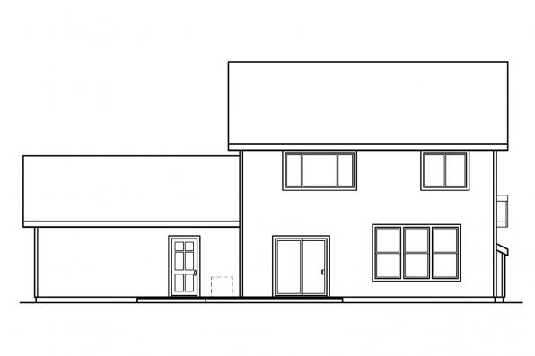 Cottage House Plan - McKinnon 30-420 - Rear Elevation