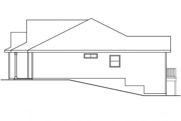 Cottage House Plan - Olmstead 30-548 - Right Elevation