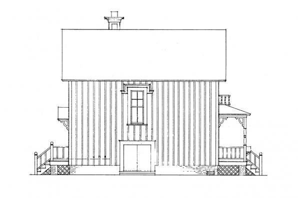 Cottage House Plan - Pearl 42-010 - Left Elevation