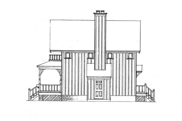 Cottage House Plan - Pearson 42-013 - Right Elevation