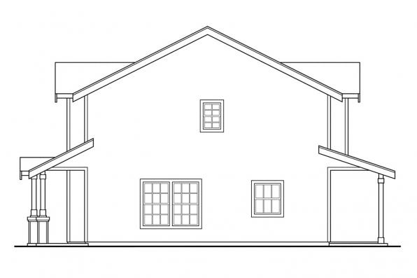 Cottage House Plan - Philipsburg 60-030 - Right Elevation