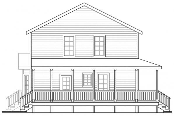 Cottage House Plan - Pine Hill 30-791 - Left Elevation