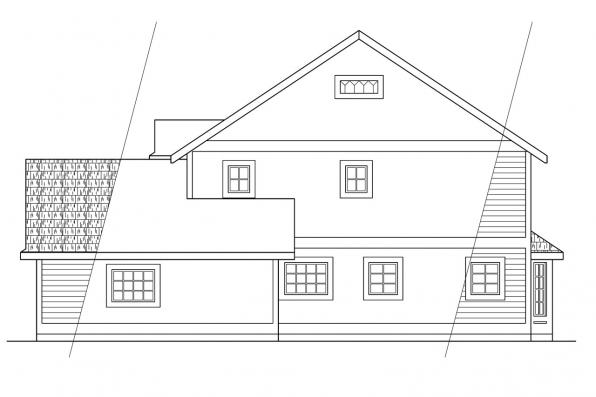 Cottage House Plan - Prescott 10-260 - Right Elevation