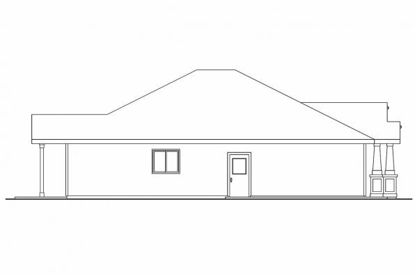 Cottage House Plan - Ravenden 30-712 - Left Elevation
