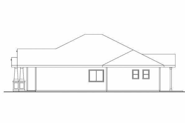 Cottage House Plan - Ravenden 30-712 - Right Elevation