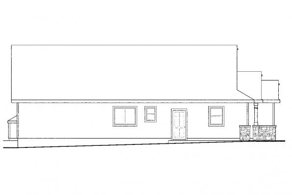 Cottage House Plan - Russellville 30-724 - Left Elevation