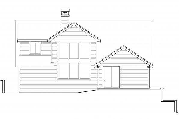 Cottage House Plan - Springvale 30-950 - Rear Elevation