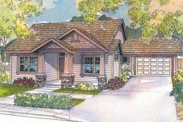 Cottage House Plan - St. Clair 30-383 - Front Elevation