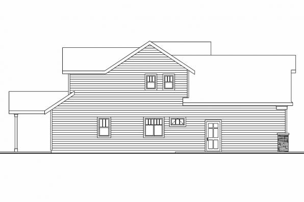Cottage House Plan - Sturnbridge 30-663 - Left Elevation