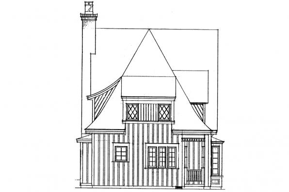 Cottage House Plan - Topeka 42-012 - Left Elevation