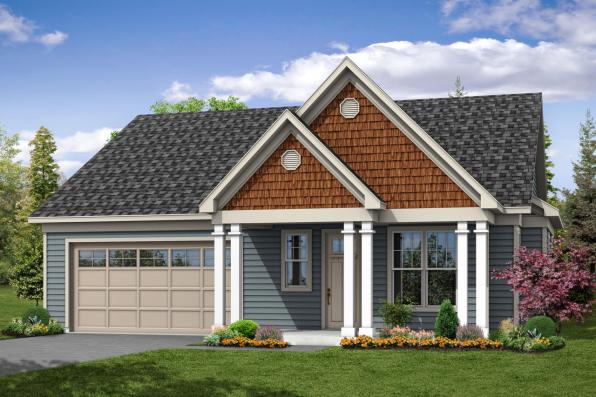Cottage House Plan - Westcliff 31-061 - Front Elevation