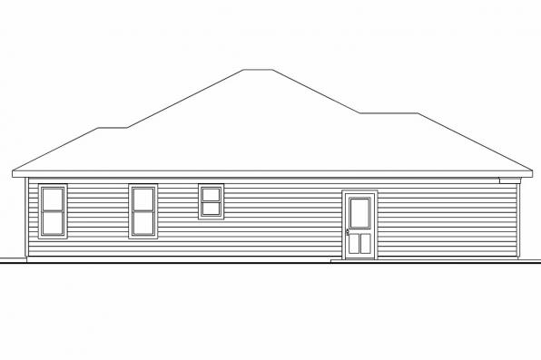Cottage House Plan - Wheatfield 30-673 - Left Elevation