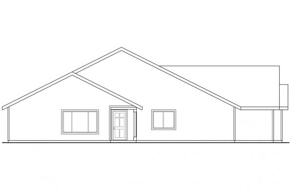Cottage House Plan - Wynant 60-024 - Left Elevation
