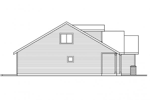 Cottage Plan - Chatham 30-623 - Left Elevation