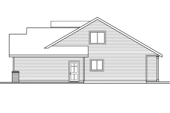 Cottage Plan - Chatham 30-623 - Right Elevation