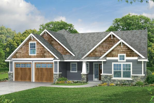 Country House Plan - Acadia 30-961 - Front Elevation