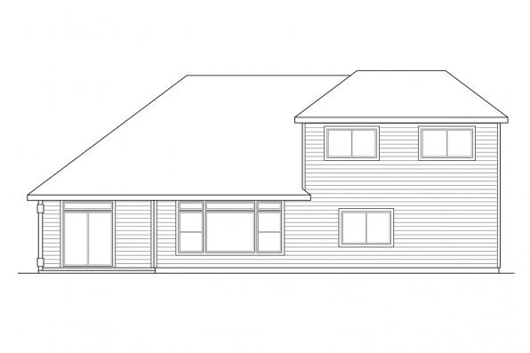 Country House Plan - Albany 30-047 - Rear Elevation
