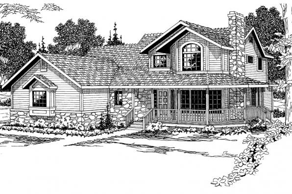 Country House Plan - Allegheny 10-204 - Front Elevation