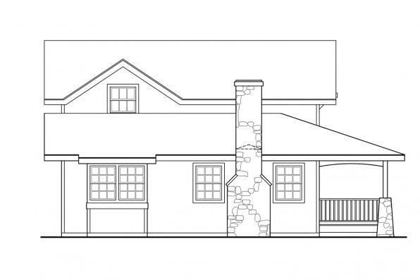 Country House Plan - Alvarado 41-002 - Left Elevation