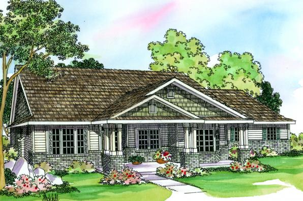 Country House Plan - Ashley 30-264 - Front Elevation