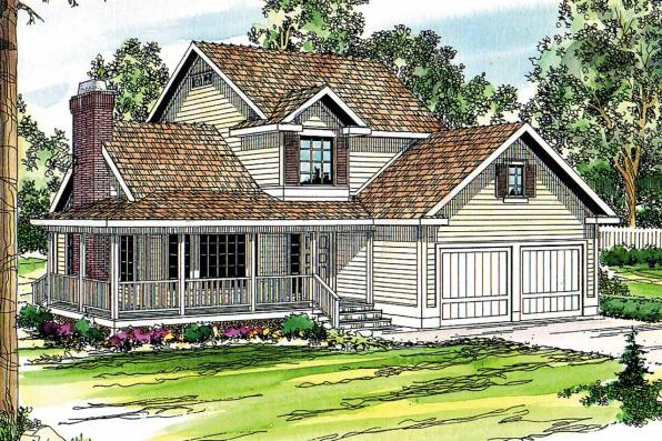 Country House Plan - Bristol 10-184 - Front Elevation