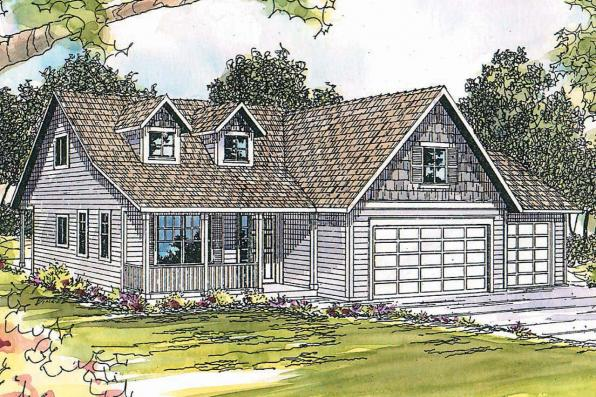 Country House Plan - Brookview 30-055 - Front Elevation