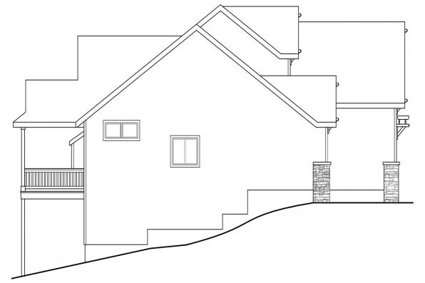Country House Plan - Brookville 30-928 - Left Elevation