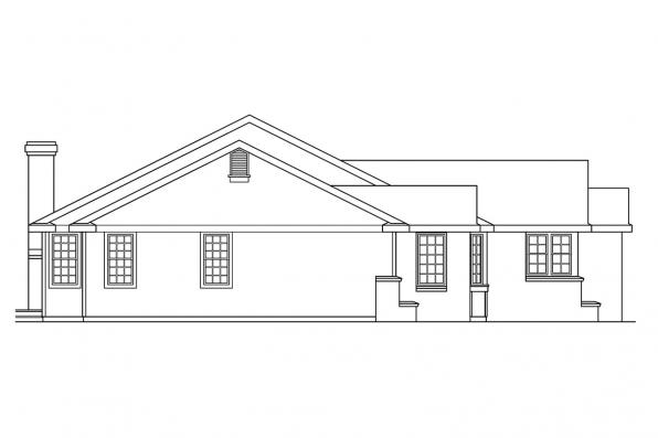 Country House Plan - Burlington 10-255 - Left Elevation