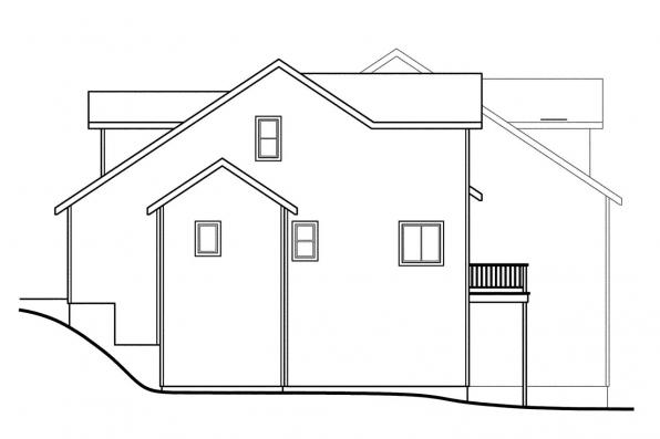 Country House Plan - Carmichael 60-014 - Right Elevation