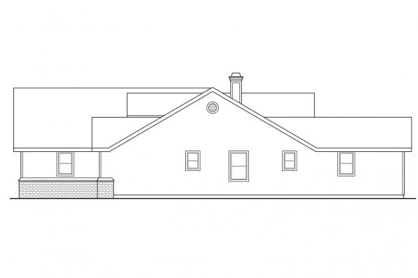 Country House Plan - Chesapeake 50-007 - Right Elevation