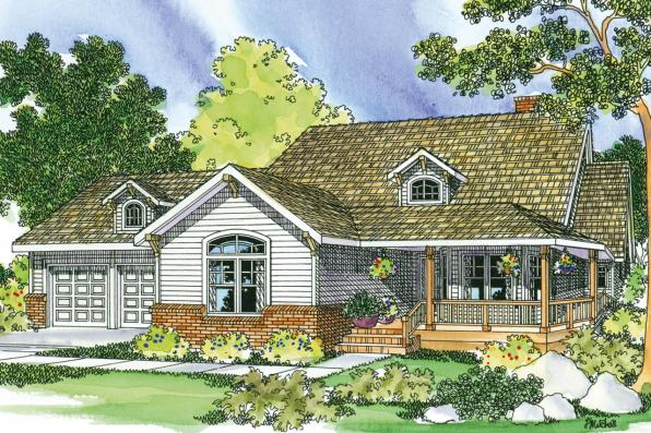 Country House Plan - Clearheart 10-410 - Front Elevation