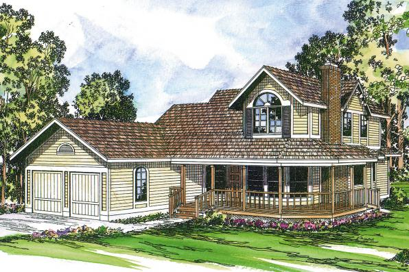 Country House Plan - Corbin 10-020 - Front Elevation