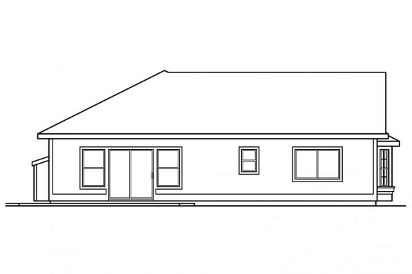 Country House Plan - Corinth 30-325 - Left Elevation