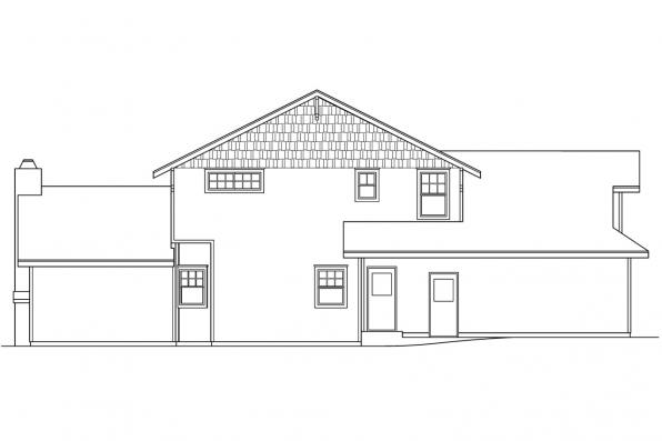 Country House Plan - Deschutes 30-150 - Left Elevation