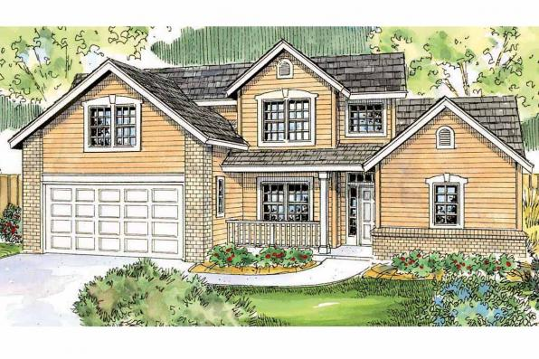 Country House Plan - Esterville 30-699 - Front Elevation