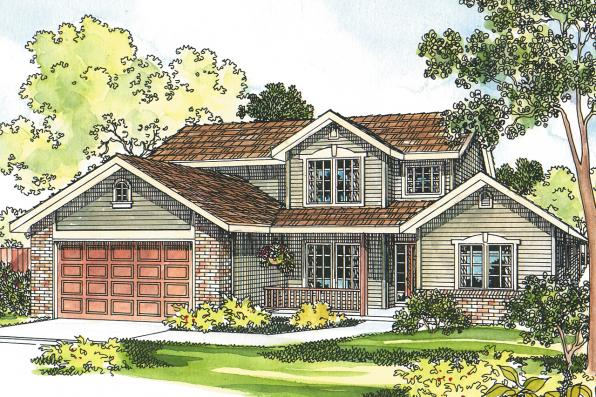 Country House Plan - Everett 30-176 - Front Elevation