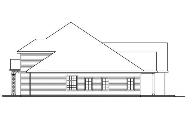 Country House Plan - Fairbanks 30-648 - Right Elevation