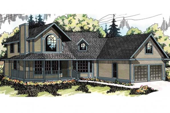 Country House Plan - Freemont 10-006 - Front Elevation